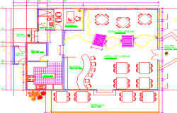 Restaurant bar dwg file