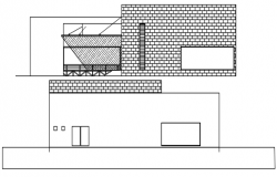 Restaurant design drawing in autocad