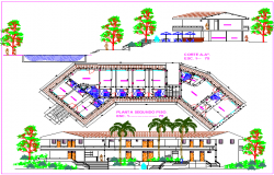 Restaurant design dwg file