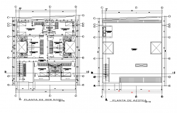 Restaurant floor plan with architecture view dwg file