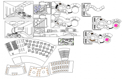 Restaurant layout floor plan detail