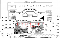 Restaurant layout plan with detailing dwg file