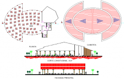 Restaurant plan dwg file