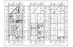 Restaurant design in DWG file