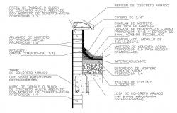 Retaining wall construction details dwg file
