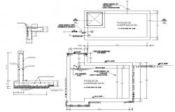 Retaining wall design 2d drawings dwg file