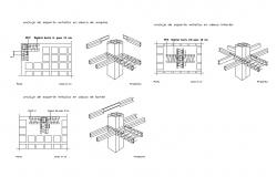 Reticulated concrete wall supportive slab cad construction details dwg file