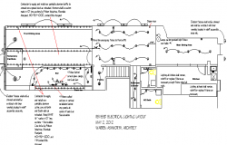 Revised electric lighting layout of coffee plant dwg file
