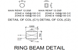 Ring beam detail dwg file