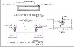River canal structure detail reinforcement detail dwg file