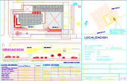 Road map detailing and table details dwg file