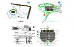 Road network constructive detail CAD structural block layout autocad file