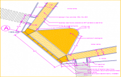 Road pavement plan section detail dwg file