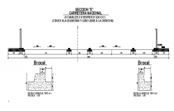 Road sectional detailing
