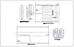 Road structure and crossing plan detail dwg file