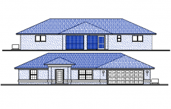 Roof House Elevation detail