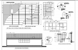 Roof House plan detail dwg file
