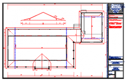 Roof Lay-out detail in autocad file