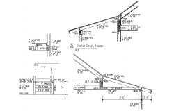 Roof Rafter Design AutoCAD Drawing