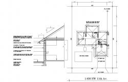 Roof Section Design AutoCAD Drawing