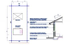 Roof Section and Site Plan Design AutoCAD Drawing