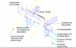 Roof Truss Structural Detail