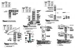 Roof connection and other structural units detail CAD block layout file in autocad format