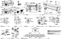 Roof construction and structural details dwg file