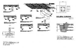 Roof construction details with brick wall cad construction details dwg file