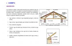 Roof cover constructive structure details of wooden structure dwg file