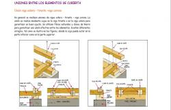 Roof cover joints wooden structure cad drawing details dwg file