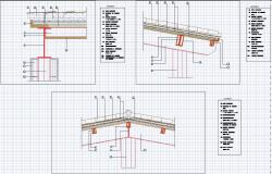 Roof cross section detail in autocad files