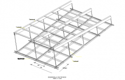 Roof development 3 d plan autocad file