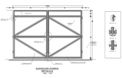 Roof elevation plan detail dwg file