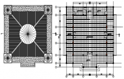 Roof layout of a mosque in dwg file