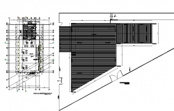 Roof plan and Commercial working plan detail dwg file