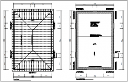 Roof plan and foundation plan detail dwg file