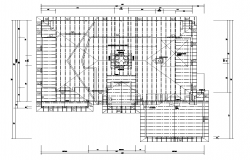 Roof plan detail 2d view layout autocad file