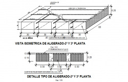 Roof plan detail and section plan detail dwg file
