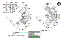 Roof plan detail autocad file