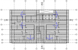 Roof plan detail dwg file