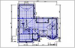 Roof plan detail with roof projection plan view detail dwg file