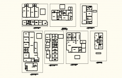 Roof plan of Hospital 47.83mtr x 40.10mtr in autocad