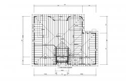 Roof plan of Residential house 65'0'' x 52'0'' with detail dimension in dwg file
