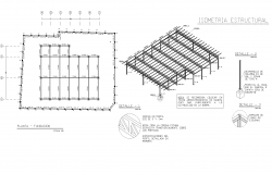 Roof plan of a commercial plan detail dwg file.