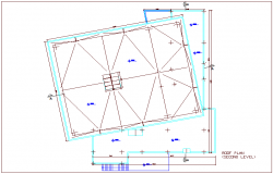 Roof plan of second level for turkey multipurpose room dwg file