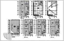 Roof plan residential working plan detail dwg file