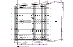 Roof planning detail dwg file