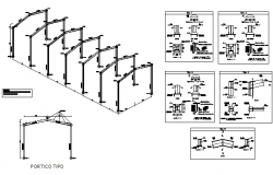 Roof section plan detail dwg file