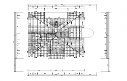Roof structure detail plan 2d view layout autocad file